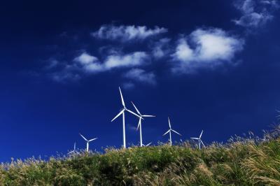 俵 山 (たわらやま) ~風車とススキの丘~