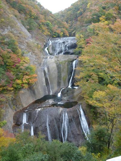 秋の袋田の滝、龍神大吊橋