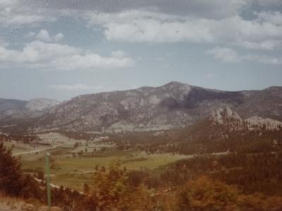 (1)1977年8月初めての海外旅行 アメリカ一周とカナダの旅26日間④アメリカ(ロッキー山脈国立公園)