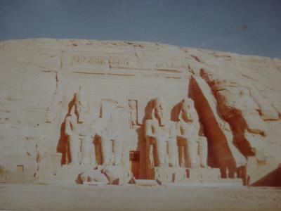 (2)1980年旧西欧(16か国)エジプト パキスタン インド ネパール136日間放浪の旅(76)エジプト(アブシンベル神殿)