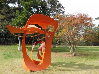 2015年 宇部市 イベントで常盤湖を1周しながら紅葉と彫刻も見ました。