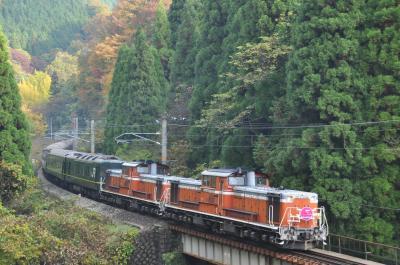 「特別なトワイライトエクスプレス」山陰コース in 伯備線