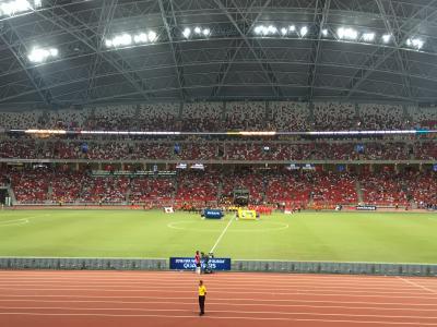 ワールドカップアジア二次予選 アウェイ・シンガポール戦