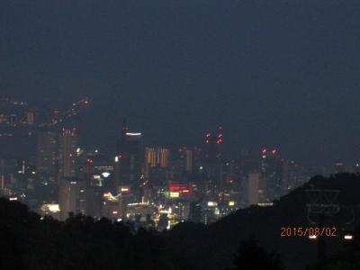 「サウダーテ」モラエスが住んだ町(42)ハーブ園のライトアップと神戸の夜景。