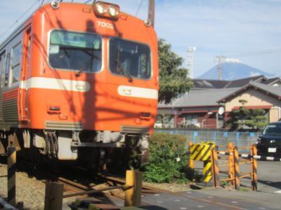つけナポと 岳南電車と 富士の山