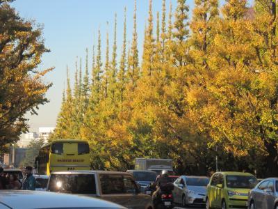 黄金色に輝く外苑のいちょう並木にご当地ゆるキャラも続々登場…