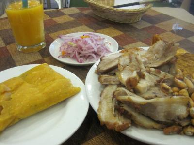 2015 リマでペルーのおいしい豚肉料理・チチャロンを食べたり、市場をうろうろしてみました!