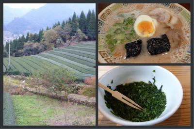八女茶の故郷でお茶を楽しみ、久留米でB級グルメを食す旅