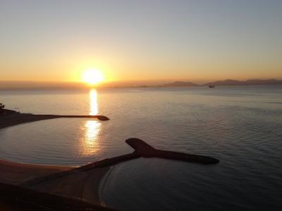 三河湾越しの日の出が美しい西浦温泉