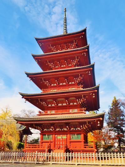 弘前-1 最勝院 五重塔 紅葉に彩られて ☆日本最北にある美麗な五重塔