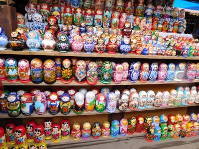 初ロシア!ロシアビールとマトリョーシカの日々。その6、ヴェルニサージュ市場で買い物を楽しんで、ロシアさよなら~日本へ。