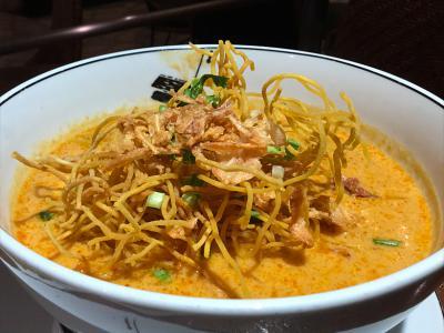 高級ホテル「グランドハイアット・エラワン」でお手軽価格の美味しいカオソーイ(チェンマイ風カレーヌードル)を食べてきた