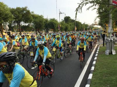 タイ・プミポン国王陛下のお誕生日を祝う記念サイクリング・イベント「Bike for Dad」に行ってみた