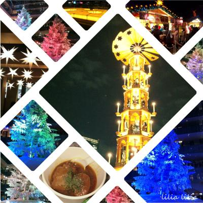 KITTEのホワイトツリーと初開催の日比谷公園東京クリスマスマーケット2015でクリスマスピラミッドを