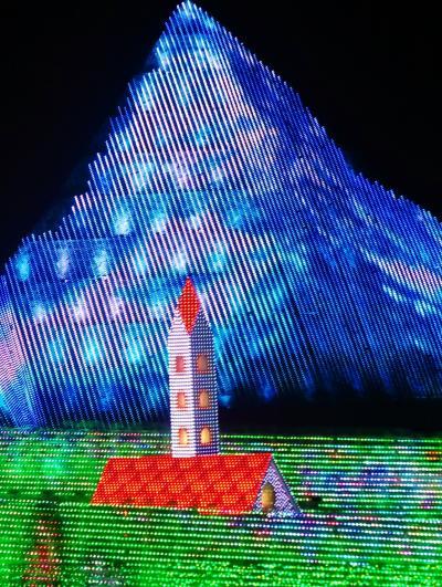 なばなの里5/6 冬華の競演 アルプスの少女ハイジの世界・変幻 ☆展望台からの全景