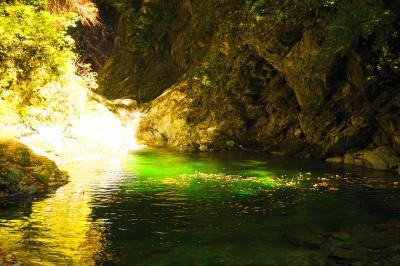 尾白川渓谷~日向山 秋の紅葉登山