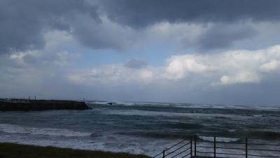 福井県 片山津温泉で宿泊でも台風並みの強風で、電車ストップ!でも根性で行きました。