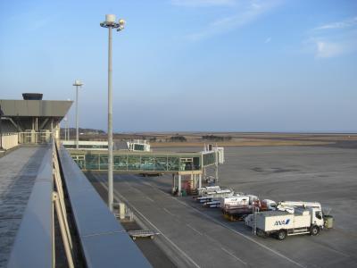 2016年 1月 山口宇部空港の送迎デッキに行って見ました。