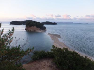 小豆島半日観光 エンジェルロードが消える瞬間。