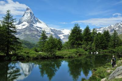 スイス花とハイキングの旅リッフェルアルプからスネガ