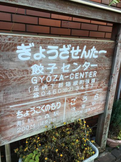 ポーラ美術館の後で。。。。箱根餃子センター。笑