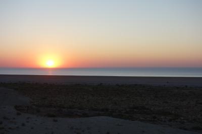 アラル海の現在の海岸線を見る