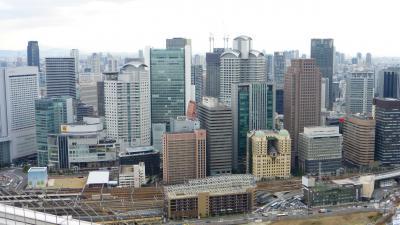 お正月の実家帰省 兼 大阪&神戸観光2泊3日の【2008年に世界の建築TOP20として紹介された、『梅田スカイビル』の空中庭園(スカイ・ウォーク)など観光編】