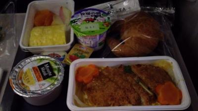 デルタ航空(羽田→LAX・LAX→成田)機内食など。