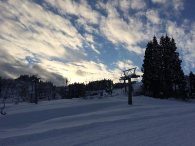 スキーとラーメンと渋滞の帰省旅行