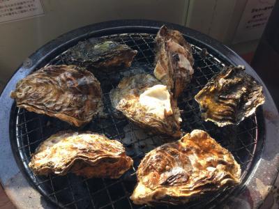 冬の広島は牡蠣!焼きガキ 60分 食べ放題 2,000円で60個完食クリア (草津かき小屋)