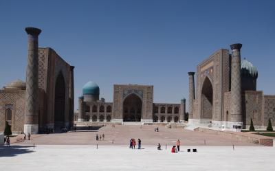 ウズベキスタン(2014年夏 4日目)サマルカンド <サマルカンドブルー>