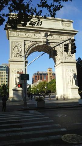 ニューヨーク二日目 前編 ワシントン広場~自由の女神~メモリアルパーク~チェルシーマーケット