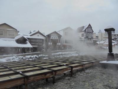 雪の草津温泉