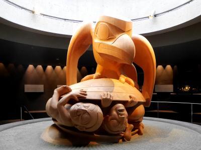 2015.12バンクーバー学会旅行5-UBC MOA(ブリティッシュ・コロンビア大学人類学博物館)2 First Nations の民俗文化