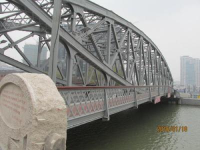 上海英租界の蘇州河・浙江路橋・完成