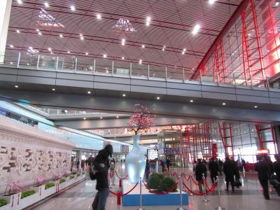冬の北京2★港龍航空利用 北京第三ターミナル到着編