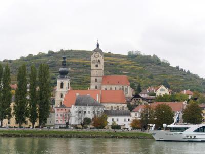 ウィーン職員旅行10-DurnsteinからKremsまでドナウ遊覧船,REXでWienに帰る