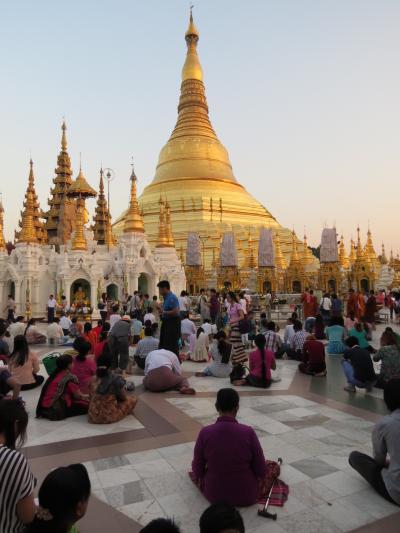 ミャンマーの旅(7)・・ヤンゴンのアウンサン・スーチー邸、チャウッターヂー・パヤー、ボーヂョーアウンサン・マーケット、シュエダゴォン・パヤーを訪ねて
