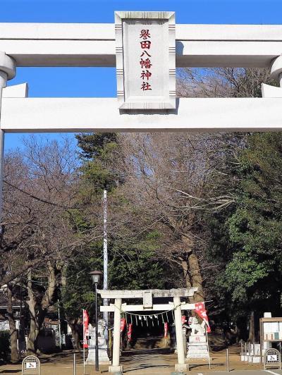 新京成ハイク2/3 藤崎・大久保商店街を通過し ☆誉田八幡神社に参拝