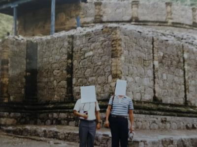 (8)1985年7月~8月トルコ周遊の旅11日間⑦パキスタン(イスラマバード タキシラ遺跡)