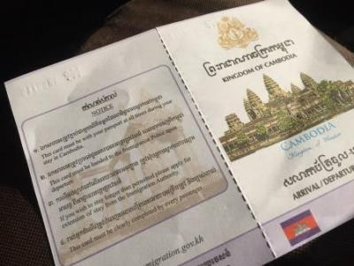 ボートに乗って国境越え。カンボジアビザの申請と取得。