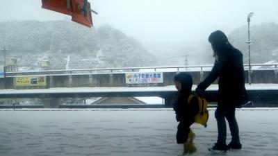 5,雪雲下の豊後水道と別府温泉5,-1宇和島運輸フェリーで豊後水道を渡る