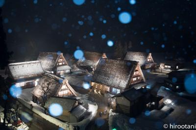 雪の白川郷と五箇山ライトアップ