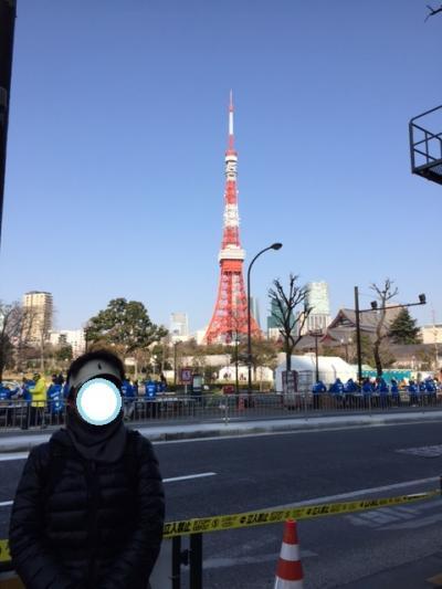 暖かさに誘われて東京マラソン2016のコース(42.195キロ)を応援を兼ねてウォーキング/ジョッギングを楽しむ、、。