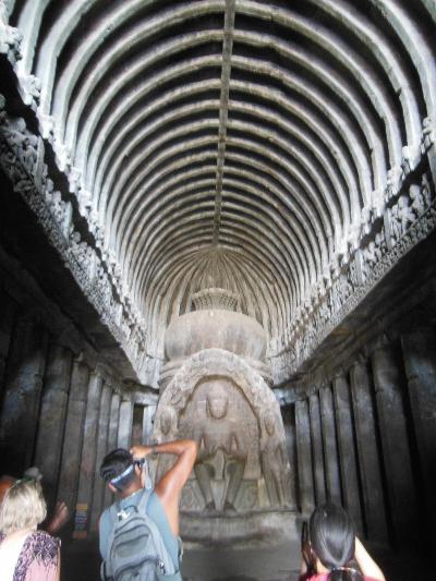 インド2016・・・(4)エローラ(後編:仏教窟)とアウランガーバード市内「ミニ・タージ」など