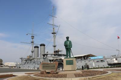 横須賀で日本海海戦の連合艦隊旗艦三笠に乗艦
