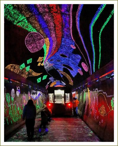 Solitary Journey[1730]とことこトレインに乗って♪6色の蛍光石で装飾された幻想的な夢世界へ<きらら夢トンネル>山口県錦町