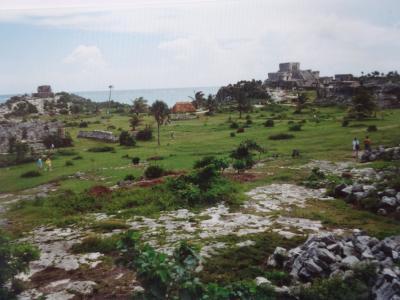 (14)1993年9月メキシコの旅8日間⑥トゥルム遺跡(降臨する神の神殿 フレスコ画の神殿) シェルハ(美しい入江)