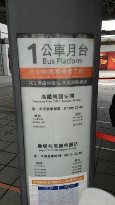 高鐵桃園駅~桃園空港 バス
