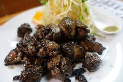 20160401-3 延岡 とんちゃんの煮込み、めひかり、鶏モモ炭火焼